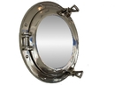 Handcrafted Model Ships MC-1964-15 CH - M Deluxe Class Chrome Porthole Mirror 15