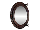 Handcrafted Model Ships MC-1965-20 AC - M Deluxe Class Antique Copper Porthole Mirror 20