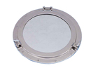 Handcrafted Model Ships MC-1967-24-CH Chrome Decorative Ship Porthole Mirror 24