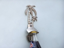 Handcrafted Model Ships MC-2128-BN Silver Finish Wall Mounted Palmtree Bottle Opener 6&Quot;