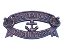 Handcrafted Model Ships MC-2200-AC Antique Copper Captain's Quarters Sign 9