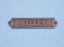 Handcrafted Model Ships MC-2202AC Antique Copper Galley Sign 6