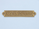 Handcrafted Model Ships MC-2219-AN Antique Brass No Smoking Sign 6