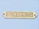 Handcrafted Model Ships MC-2229-Brass Solid Brass Navy Sign 6