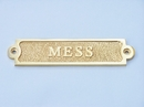 Handcrafted Model Ships MC-2231-Brass Solid Brass Mess Sign 6