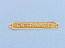 Handcrafted Model Ships MC-2235-Brass Solid Brass Entrance Sign 6