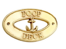 Handcrafted Model Ships MC-2256-BR Brass Poop Deck Oval Sign With Anchor 8&Quot;