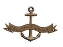 Handcrafted Model Ships MC-2265-AN Antique Brass Welcome Aboard Anchor With Ribbon Sign 8&Quot;