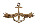 Handcrafted Model Ships MC-2266-AN Antique Brass Ship Happens Anchor With Ribbon Sign 8&Quot;