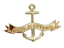 Handcrafted Model Ships MC-2266-BR Brass Ship Happens Anchor With Ribbon Sign 8&Quot;