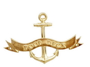 Handcrafted Model Ships MC-2267-BR Brass Poop Deck Anchor With Ribbon Sign 8&Quot;