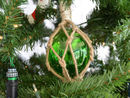 Handcrafted Model Ships MR4799G-XMASS Glass & Rope Green Fishing Float Christmas Tree Ornament
