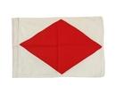 "Handcrafted Model Ships Nautical-Flag-F Letter F Cloth Nautical Alphabet Flag - 20"""