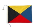 "Handcrafted Model Ships Nautical-Flag-Z Letter Z Cloth Nautical Alphabet Flag - 20"""