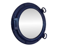 Handcrafted Model Ships Navy Blue Porthole -20 - M Navy Blue Porthole Mirror 20