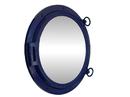 Handcrafted Model Ships Navy Blue Porthole - 24 - M Navy Blue Porthole Mirror 24