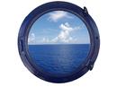 Handcrafted Model Ships Navy Blue Porthole - 24 - W Navy Blue Porthole Window 24