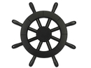 Handcrafted Model Ships NEW -12 Black W Pirate Decorative Ship Wheel 12