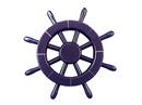 Handcrafted Model Ships New-Dark-Blue-SW-12 Dark Blue Ship Wheel 12
