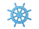Handcrafted Model Ships New-Light-Blue-SW-12 Light Blue Ship Wheel 12