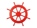 Handcrafted Model Ships New-Red-Only-SW-18 Red Ship Wheel 18