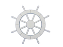 Handcrafted Model Ships New-White-SW-18 White Ship Wheel 18