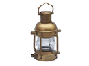Handcrafted Model Ships NL-1118-14-AN-6 Antique Brass Anchor Oil Lantern 15