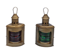 Handcrafted Model Ships NL-1119-10-AN Antique Brass Port And Starboard Oil Lantern 12