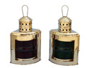 Handcrafted Model Ships NL-1119-14 Solid Brass Port and Starboard Oil Lantern 17