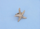 Handcrafted Model Ships NR-16-BR Brass Starfish Napkin Ring 3""