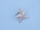 Handcrafted Model Ships NR-16-N Chrome Starfish Napkin Ring 3""