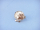 Handcrafted Model Ships NR-18-BR Brass Seashell Napkin Ring 2""