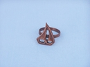 Handcrafted Model Ships NR-29-C Antique Copper Sailboat Napkin Ring 2""