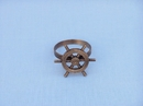 Handcrafted Model Ships NR-33-C Antique Copper Ship Wheel Napkin Ring 2