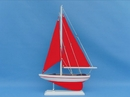 Handcrafted Model Ships PS-Red-Red-Sails Pacific Sailer 17