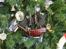 Handcrafted Model Ships QA 7-XMASS Wooden Queen Anne's Revenge Model Ship Christmas Tree Ornament