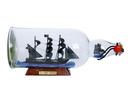 Handcrafted Model Ships QA-Revenge-Bottle-11 Blackbeard'S Queen Anne'S Revenge Model Ship In A Glass Bottle 11&Quot;