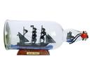 Handcrafted Model Ships Rose-Pink-Bottle-11 Ed Low'S Rose Pink Model Ship In A Glass Bottle 11&Quot;