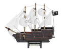 Handcrafted Model Ships Royal-Fortune-7-W Wooden Black Bart'S Royal Fortune White Sails Model Pirate Ship 7&Quot;