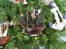 Handcrafted Model Ships RoyalFortune-7-XMASS Wooden Black Bart's Royal Fortune Christmas Tree Ornament