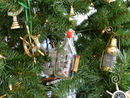 Handcrafted Model Ships SMBottle5-XMASS Santa Maria Model Ship in a Glass Bottle Christmas Tree Ornament