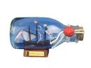 Handcrafted Model Ships SMBottle5 Santa Maria Ship in a Glass Bottle 5