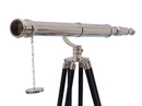 Handcrafted Model Ships ST-0117CH Floor Standing Chrome Galileo Telescope 65