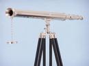 Handcrafted Model Ships ST-0123-CH Floor Standing Chrome Harbor Master Telescope 60