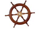 Handcrafted Model Ships SW-1716 Deluxe Class Wood and Brass Ship Wheel 24