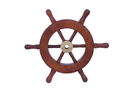 Handcrafted Model Ships SW-6-BR Deluxe Class Wood and Brass Ship Wheel 6