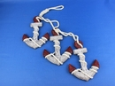 """Handcrafted Model Ships Triple-Anchor-Red Wooden Rustic Triple Anchor Set 7"""" - Red"""