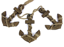 Handcrafted Model Ships Triple-Anchor-Wood Wooden Rustic Decorative Triple Anchor Set 7