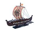 Handcrafted Model Ships viking-14-raven Viking Drakkar with Embroidered Raven Limited 14