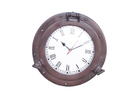 Handcrafted Model Ships WC-1445-12-BZ Bronze Decorative Ship Porthole Clock 12